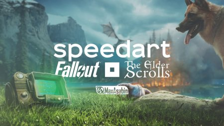 Fallout X The Elder Scrolls / speedart